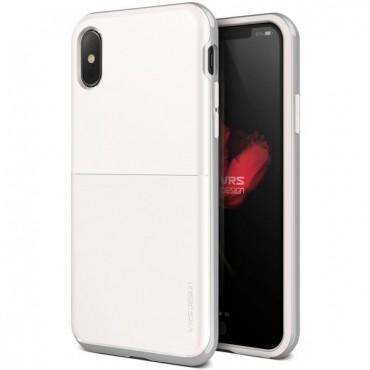 """VRS Design """"High Pro Shield"""" védőtok iPhone X / XS készülékekhez – white silver"""