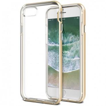 """VRS Design """"Crystal Bumper"""" védőtok iPhone 8 / iPhone 7 készülékekhez – gold"""