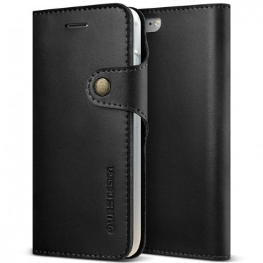 """Nyitható tok VRS Design """"Native Diary"""" iPhone 8 / iPhone 7 készülékekhez - fekete"""