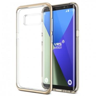 """VRS Design """"Crystal Bumper"""" védőtok Samsung Galaxy S8 készülékekhez – shine gold"""