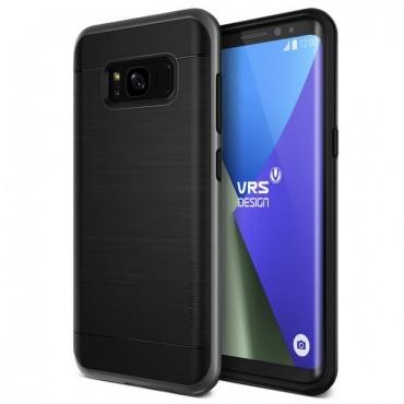 """VRS Design """"High Pro Shield"""" védőtok Samsung Galaxy S8 Plus készülékekhez – dark silver"""