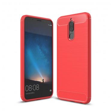 Brushed Carbon TPU géles védőtok Huawei Mate 10 Lite készülékekhez – piros