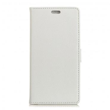 """Elegáns """"Litchi"""" műbőrtárca Huawei Mate 10 Lite készülékekhez – fehér"""