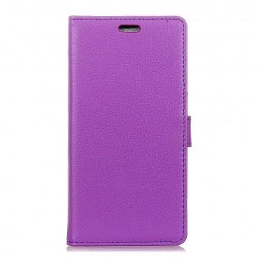 """Elegáns """"Litchi"""" műbőrtárca Huawei Mate 10 Lite készülékekhez – lila"""