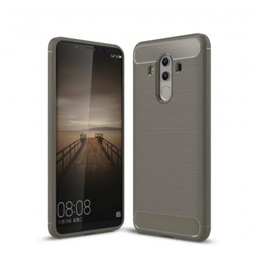 Brushed Carbon TPU géles védőtok Huawei Mate 10 Pro készülékekhez – szürke