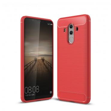 Brushed Carbon TPU géles védőtok Huawei Mate 10 Pro készülékekhez – piros