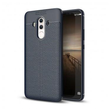 Litchi TPU géles védőtok Huawei Mate 10 Pro készülékekhez – sötétkék