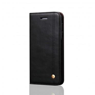 Elegáns prémium műbőr tárca Huawei Mate 10 Pro készülékekhez – fekete