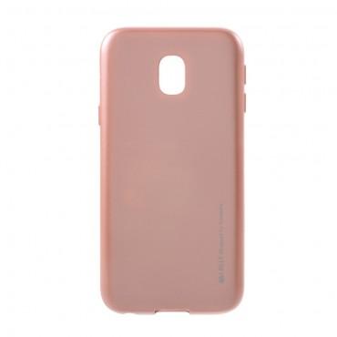 Goospery iJelly Case TPU géles védőtok Samsung Galaxy J3 2017 készülékekhez – rózsaszín