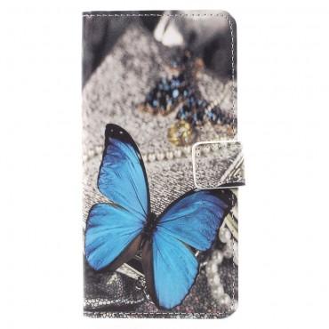 """Divatos """"Blue Butterfly"""" tárca Huawei Mate 10 Pro készülékekhez"""