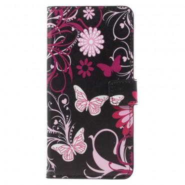 """Divatos """"Flower World"""" tárca Huawei Mate 10 Pro készülékekhez"""