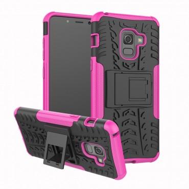"""Hibrid TPU géles """"Tough"""" védőtok Samsung Galaxy A8 2018 készülékekhez – rózsaszín"""