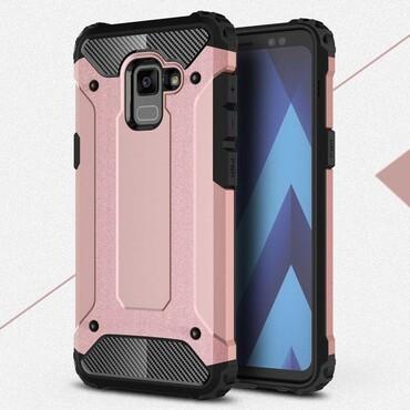 """Strapabíró """"Rock"""" védőtok Samsung Galaxy A8 2018 készülékekhez – rózsaszín"""