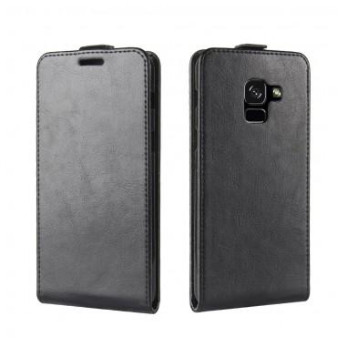 Divatos flip tárca Samsung Galaxy A8 2018 készülékekhez – fekete