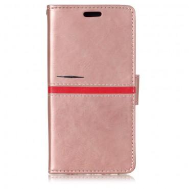 """Divatos nyitható tok """"Elegant Line"""" Samsung Galaxy A8 2018 készülékekhez - rózsaszín"""