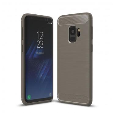 Brushed Carbon TPU géles védőtok Samsung Galaxy S9 készülékekhez – szürke