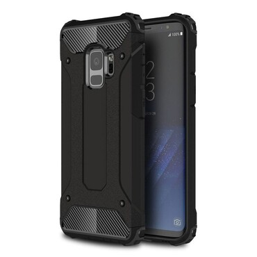 """Strapabíró """"Rock"""" védőtok Samsung Galaxy S9 készülékekhez – fekete"""