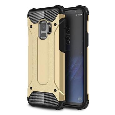 """Strapabíró """"Rock"""" védőtok Samsung Galaxy S9 készülékekhez – aranyszínű"""