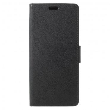 """Elegáns """"Litchi"""" tárca Samsung Galaxy S9 készülékekhez – fekete"""