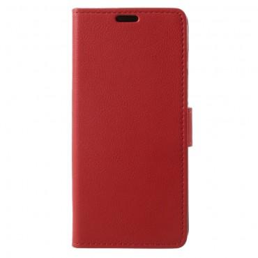 """Elegáns """"Litchi"""" tárca Samsung Galaxy S9 készülékekhez – piros"""