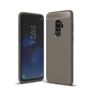 Brushed Carbon TPU géles védőtok Samsung Galaxy S9 Plus készülékekhez – szürke