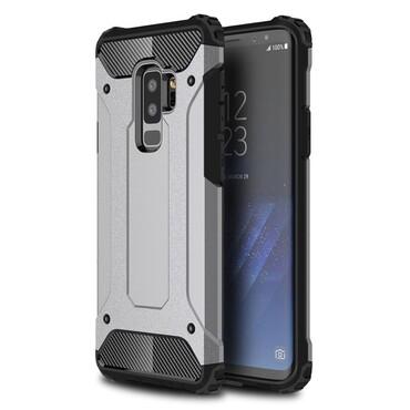 """Strapabíró """"Rock"""" védőtok Samsung Galaxy S9 Plus készülékekhez – szürke"""