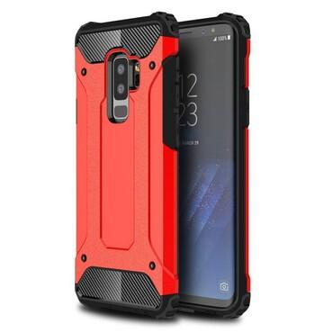 """Strapabíró """"Rock"""" védőtok Samsung Galaxy S9 Plus készülékekhez – piros"""