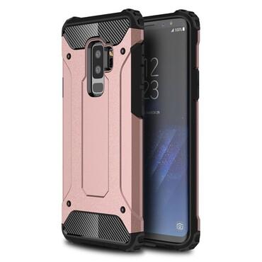 """Strapabíró """"Rock"""" védőtok Samsung Galaxy S9 Plus készülékekhez – rózsaszín"""