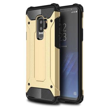 """Strapabíró """"Rock"""" védőtok Samsung Galaxy S9 Plus készülékekhez – aranyszínű"""