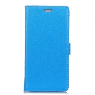 """Elegáns """"Litchi"""" tárca Samsung Galaxy S9 Plus készülékekhez – kék"""