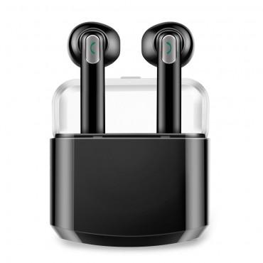 """Earbuds vezeték nélküli bluetooth fülhallgató """"Duo"""" hordozható töltőállomással - fekete"""