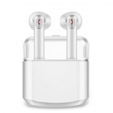 """Earbuds vezeték nélküli bluetooth fülhallgató """"Duo"""" hordozható töltőállomással - fehér"""