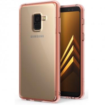 """Ringke """"Fusion"""" védőtok Samsung Galaxy A8 2018 készülékekhez - rose gold"""