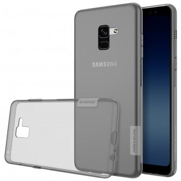 """Prémium vékony tok """"Nature"""" Samsung Galaxy A8 2018 készülékekhez - szürke"""