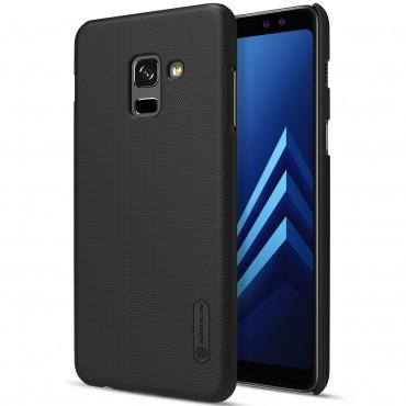 Super Frosted Shield prémium védőtok Samsung Galaxy A8 2018 készülékekhez – fekete
