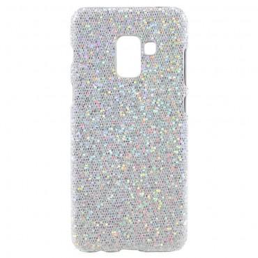 """Csillogó tárca """"Disco Glitter"""" a Samsung Galaxy A8 2018 készülékhez – ezüst"""