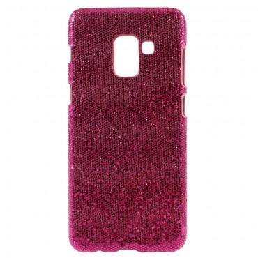 """Csillogó tárca """"Disco Glitter"""" a Samsung Galaxy A8 2018 készülékhez – rózsaszín"""
