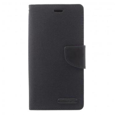 Goospery Canvas Diary tárca Samsung Galaxy A8 2018 készülékekhez – fekete