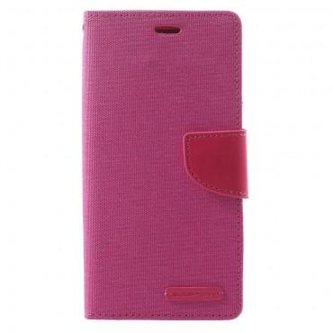 Goospery Canvas Diary tárca Samsung Galaxy A8 2018 készülékekhez – rózsaszín