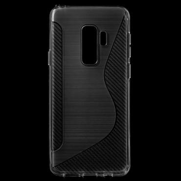 """TPU gél tok """"S-Line"""" Samsung Galaxy S9 Plus készülékekhez - átlátszó"""