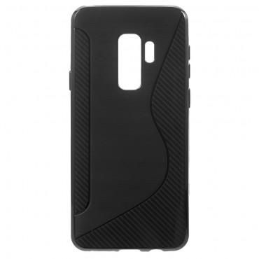 """TPU gél tok """"S-Line"""" Samsung Galaxy S9 Plus készülékekhez - fekete"""
