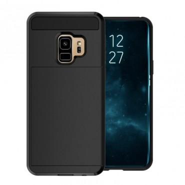 """Hibrid TPU géles """"Slot"""" védőtok Samsung Galaxy S9 Plus készülékekhez – fekete"""
