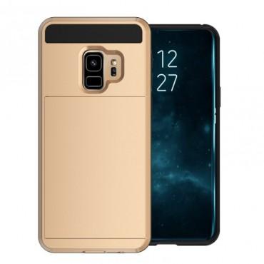 """Hibrid TPU géles """"Slot"""" védőtok Samsung Galaxy S9 Plus készülékekhez – aranyszínű"""