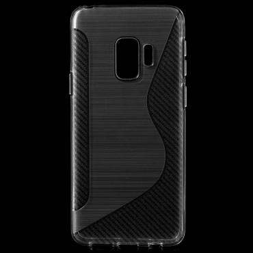 """TPU gél tok """"S-Line"""" Samsung Galaxy S9 készülékekhez - átlátszó"""