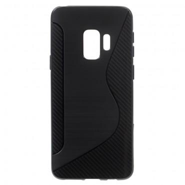 """TPU gél tok """"S-Line"""" Samsung Galaxy S9 készülékekhez - fekete"""