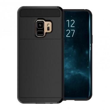 """Hibrid TPU géles """"Slot"""" védőtok Samsung Galaxy S9 készülékekhez – fekete"""