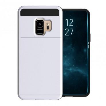 """Hibrid TPU géles """"Slot"""" védőtok Samsung Galaxy S9 készülékekhez – fehér"""