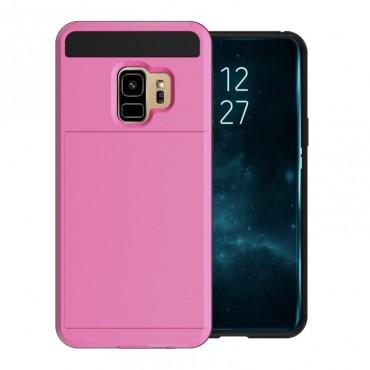"""Hibrid TPU géles """"Slot"""" védőtok Samsung Galaxy S9 készülékekhez – rózsaszín"""