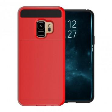 """Hibrid TPU géles """"Slot"""" védőtok Samsung Galaxy S9 készülékekhez – piros"""