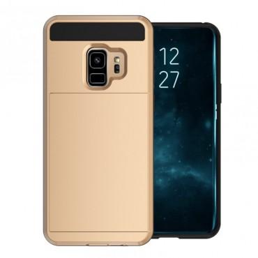 """Hibrid TPU géles """"Slot"""" védőtok Samsung Galaxy S9 készülékekhez – aranyszínű"""
